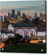 Kansas City Summer Sunset Acrylic Print