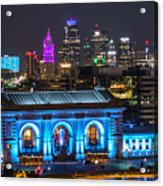 Kansas City Vibrant At Night Acrylic Print