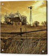 Kansas Pioneer Homestead On The Plains Acrylic Print