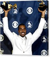 Kanye West In The Press Room For 47th Acrylic Print by Everett