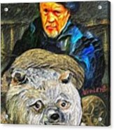 Kaptain Van Janned And His Trusty Bear Vincent Acrylic Print