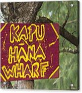 Kapu Hana Wharf Acrylic Print