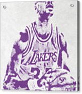Kareem Abdul Jabbar Los Angeles Lakers Pixel Art Acrylic Print