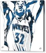 Karl Anthony Towns Minnesota Timberwolves Pixel Art Acrylic Print
