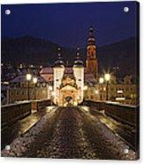 Karl Theodor Bridge With The Castle Acrylic Print