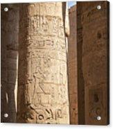 Karnak Pillar Carvings Acrylic Print