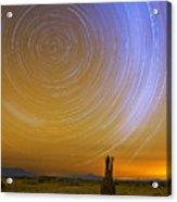 Karoo Desert Star Trails Acrylic Print