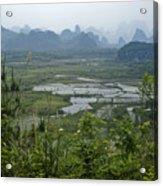 Karst Landscape Of Guangxi Acrylic Print