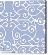 Kasbah Blue Arabesque Acrylic Print