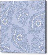 Kasbah Blue Paisley II Acrylic Print