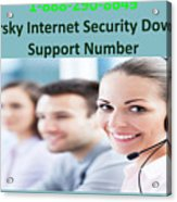 Kaspersky Internet Security Download Support Number Acrylic Print