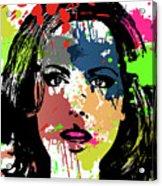 Kate Beckinsale Pop Art Acrylic Print