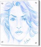 Kate Winslet Acrylic Print
