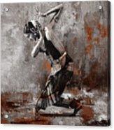 Kathak Dancer A1 Acrylic Print