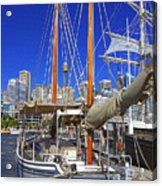 Kathleen Gillett The Artist Cruising Ketch Acrylic Print