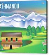 Kathmandu Nepal Horizontal Scene Acrylic Print