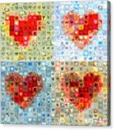 Katrina's Heart Wall - Custom Design Created For Extreme Makeover Home Edition On Abc Acrylic Print by Boy Sees Hearts