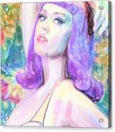 Katy Perry Watercolor, Acrylic Print