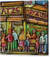 Katzs Delicatessan New York Acrylic Print