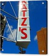 Katz's Ny Deli Sign Acrylic Print
