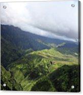 Kauai By Helicopter Acrylic Print
