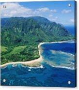 Kauai, Tunnels Beach Acrylic Print