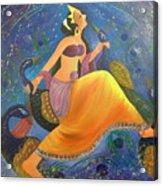 Kaushiki Dance With Peacock Acrylic Print