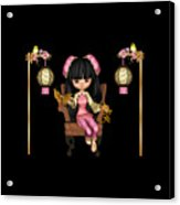 Kawaii China Doll Scene Acrylic Print