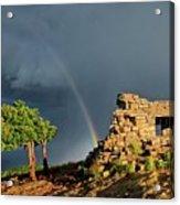 Kawanis Cabin Rainbow, Sandia Crest, New Mexico Acrylic Print