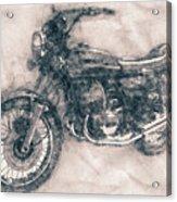 Kawasaki Triple - Kawasaki Motorcycles - 1968 - Motorcycle Poster - Automotive Art Acrylic Print