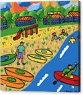 Kayak Beach - Cedar Key Acrylic Print