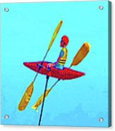 Kayak Guy On A Stick Acrylic Print