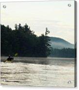 Kayak In The Fog Acrylic Print