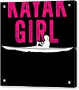 Kayak Kayak Girl Pink Gift Light Acrylic Print