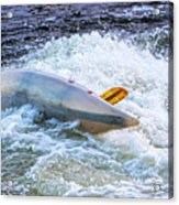 Kayaker Goes Over In Pipeline Rapids 5965ct Acrylic Print