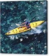 Kayaker Over Coral Reef Acrylic Print