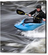 Kayaker Riding The Flow Of The Shannon River Limerick Ireland Acrylic Print