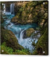 Columbia River Gorge Spirit Falls Acrylic Print