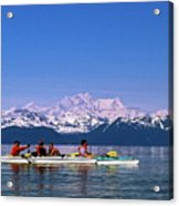 Kayakers In Alaska Acrylic Print