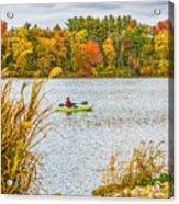 Kayaking In Fall Acrylic Print