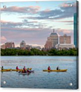 Kayaking On The Charles Acrylic Print