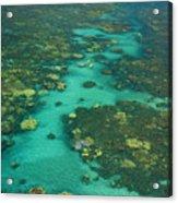 Kayaking Through Beautiful Coral Acrylic Print