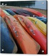 Kayaks At Rest Acrylic Print