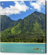 Kayaks In Hanalei Bay Acrylic Print