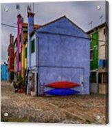 Kayaks On Burano Venice_dsc5681_03072017 Acrylic Print
