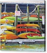 Kayaks Stacked On Shem Creek Acrylic Print