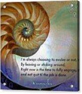 Kaypacha's Mantra 10.14.2015 Acrylic Print