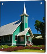 Ke Ola Mau Loa Church - Waimea Acrylic Print