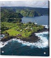 Keanae Peninsula Aerial Acrylic Print