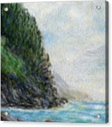 Ke'e Rocks Acrylic Print
